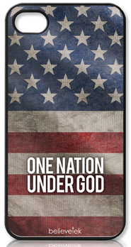 One Nation Under God America Flag iPhone 4 Case  -