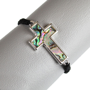 Shell Sideways Cross Bracelet   -