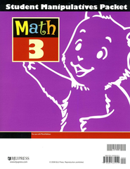 BJU Math 3 Student Manipulatives Packet, Third Edition   -