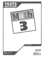 BJU Math Grade 3 Tests, Third Edition    -