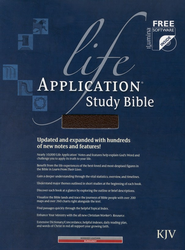 KJV Life Application Study Bible, Bonded leather, Burgundy,  Thumb-Indexed  -
