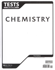 BJU Chemisty Grade 11 Tests, Third Edition    -