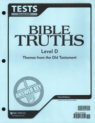BJU Bible Truths Level D (Grade 10) Tests Answer Key, 3rd Edition    -