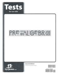 BJU Pre-Algebra Grade 8 Tests Packet (Second Edition)    -