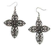 Silver Cross Earrings  -