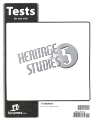BJU Heritage Studies Grade 5 Tests Packet (Third Edition)    -