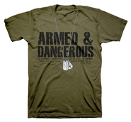 Dogtags, Armed & Dangerous Shirt, Green, 4X Large  -