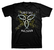 Social Hazard II Shirt, Black, Extra Large  -