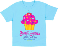 Sweet Cupcake Shirt, Blue, Toddler 4  -