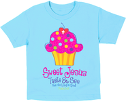 Sweet Cupcake Shirt, Blue, Toddler 5  -
