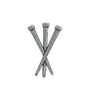 3 Nails Lapel Pin, Silver Plated  -