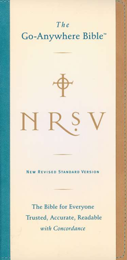 NRSV Go-Anywhere Bible NuTone, Tan & Teal  -