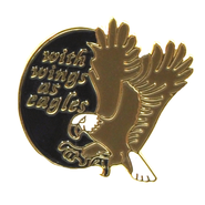With Wings as Eagles Lapel Pin  -