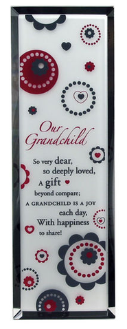 Our Grandchild Vertical Plaque  -