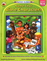 Name That Bible Character! Gr PK-K  -     By: Carson-Dellosa