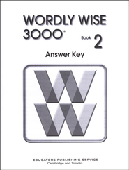 Wordly Wise 3000, Grade 2, Answer Key for Student Text  -