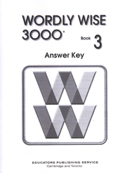 Wordly Wise 3000, Grade 3, Answer Key for Student Text  -