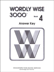 Wordly Wise 3000, Grade 4, Answer Key for Student Text  -
