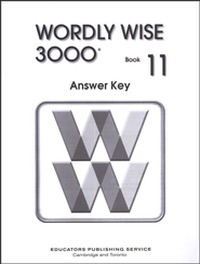 Wordly Wise 3000, Grade 11, Answer Key for Student Text - Slightly Imperfect  -
