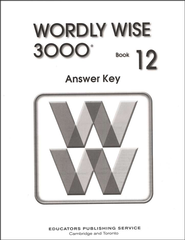 Wordly Wise 3000, Grade 12, Answer Key for Student Text  -