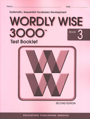 Wordly Wise 3000, Grade 3, Test Booklet with Answer Key  -