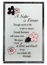 Sister is Forever Mirror Plaque  -