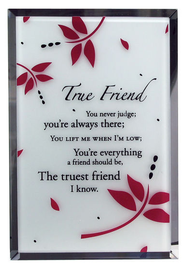 True Friend Mirror Plaque  -