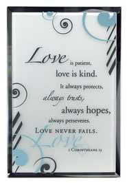 1 Corinthians 13 Mirror Plaque  -