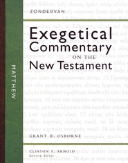 Matthew: Zondervan Exegetical Commentary on the New Testament [ZECNT]  -     By: Grant R. Osborne