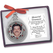 Memorial Photo Ornament, Male   -