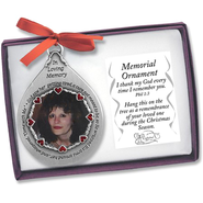 Memorial Photo Ornament, Female   -