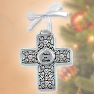 Cross Ornament, Peace on Earth  -