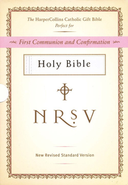 HarperCollins Catholic Gift Bible, White: First Communion and Confirmation - Slightly Imperfect  -