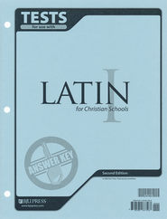 BJU Latin 1 Tests Answer Key, Second Edition    -