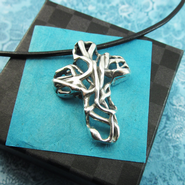 Mexico Cross Necklace   -