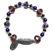 My Mother My Angel Bracelet, Amethyst and Gray  -