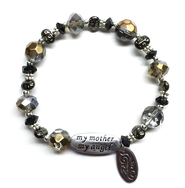 My Mother My Angel Bracelet, Gray  -