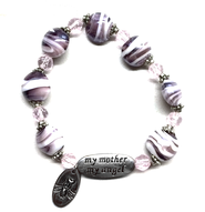 My Mother My Angel Bracelet, Amethyst and White  -