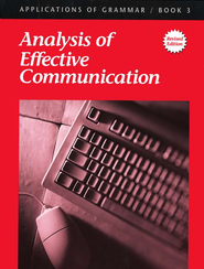Applications of Grammar Book 3: Analysis Of Effective  Communication  -     By: Annie Lee Sloan