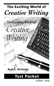 Exciting World of Creative Writing Test, Grades 7-12   -     By: Homeschool