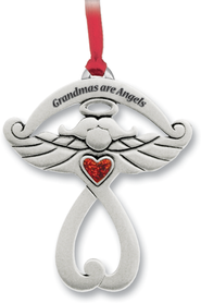 Grandmas Are Angels, Pewter Ornament   -