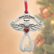Moms Are Angels, Cross Ornament  -