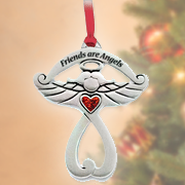 Friends Are Angels, Cross Ornament  -
