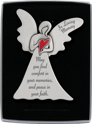 In Loving Memory Standing Angel Plaque  -