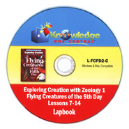 Exploring Creation with Zoology 1: Flying Creatures of the 5th Day Lessons 7-14 Lapbook CD-Rom  -