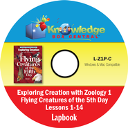 Exploring Creation with Zoology 1: Flying Creatures of the 5th Day Lapbook Package (Lessons 1-14) CD-Rom  -