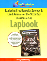 Exploring Creation with Zoology 3: Land Animals of the  6th Day Lessons 7-14 Lapbook  -