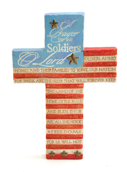 Soldier's Prayer Flag Cross  -