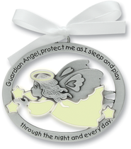 Protect Me While I Sleep Crib Charm, Glow Angel  -