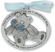 Protect Me While I Sleep Crib Charm, Blue Bear  -